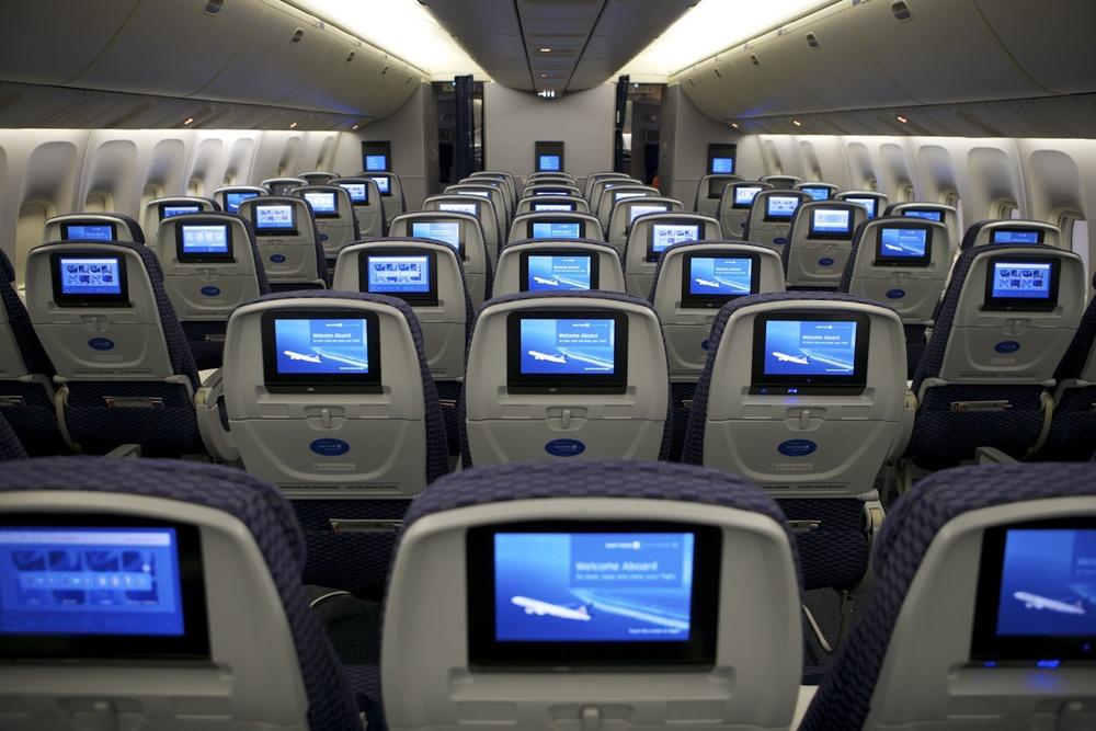 Khoang hành khách của hãng United Airlines