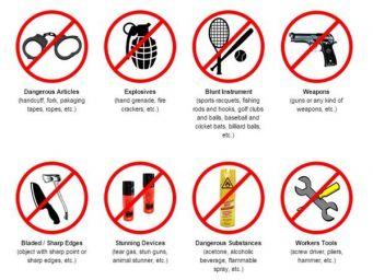 Vật dụng cấm mang lên máy bay